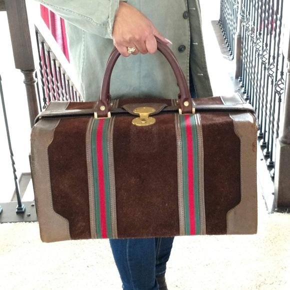 59a11f502f23 Gucci Bags | Large Unisex Vintage Travel Bag | Poshmark